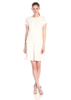 Anne Klein Women's Lace Crepe Popover Dress