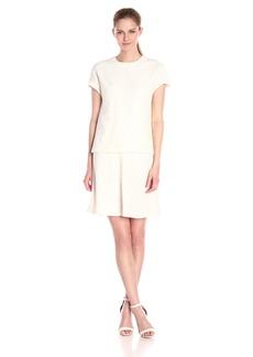 Anne Klein Women's Lace Crepe Popover Dress