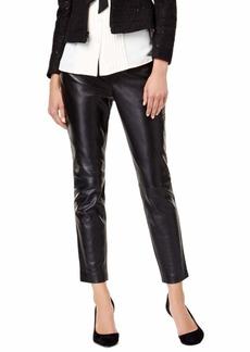 Anne Klein Women's Leather Straight Leg Pant