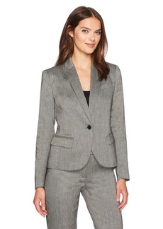 Anne Klein Women's Linen Twill Peak Lapel Jacket