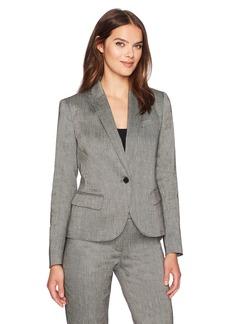 Anne Klein Women's Linen Twill Peak Lapel Jacket
