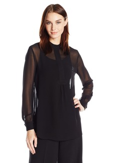 Anne Klein Women's  Long Sleeve Blouse