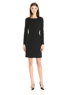 Anne Klein Women's Long Sleeve Dress with Combo Zipper