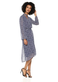 Anne Klein Women's Long Sleeve FIT and Flare Dress