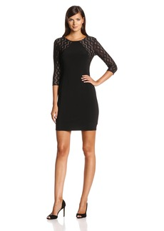 Anne Klein Women's Long Sleeve Lace Sheath Dress