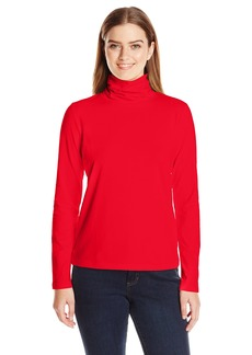 Anne Klein Women's Long Sleeve Solid Jersey Turtleneck