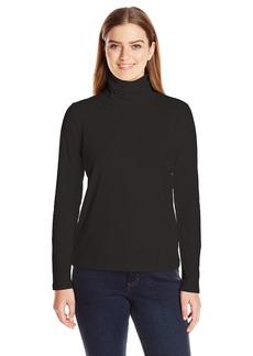 Anne Klein Women's Long Sleeve Solid Jersey Turtleneck