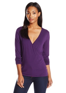 Anne Klein Women's Long Sleeve Wrap Top