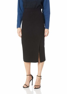 Anne Klein Women's Long Sweater Skirt with Slit  M