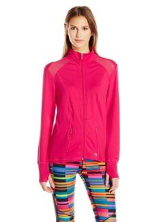 Anne Klein Women's L/s Mock Neck Jacket W/ Mesh Detail  M