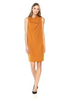 Anne Klein Women's Madison Crepe Cowl Neck Sheath Dress