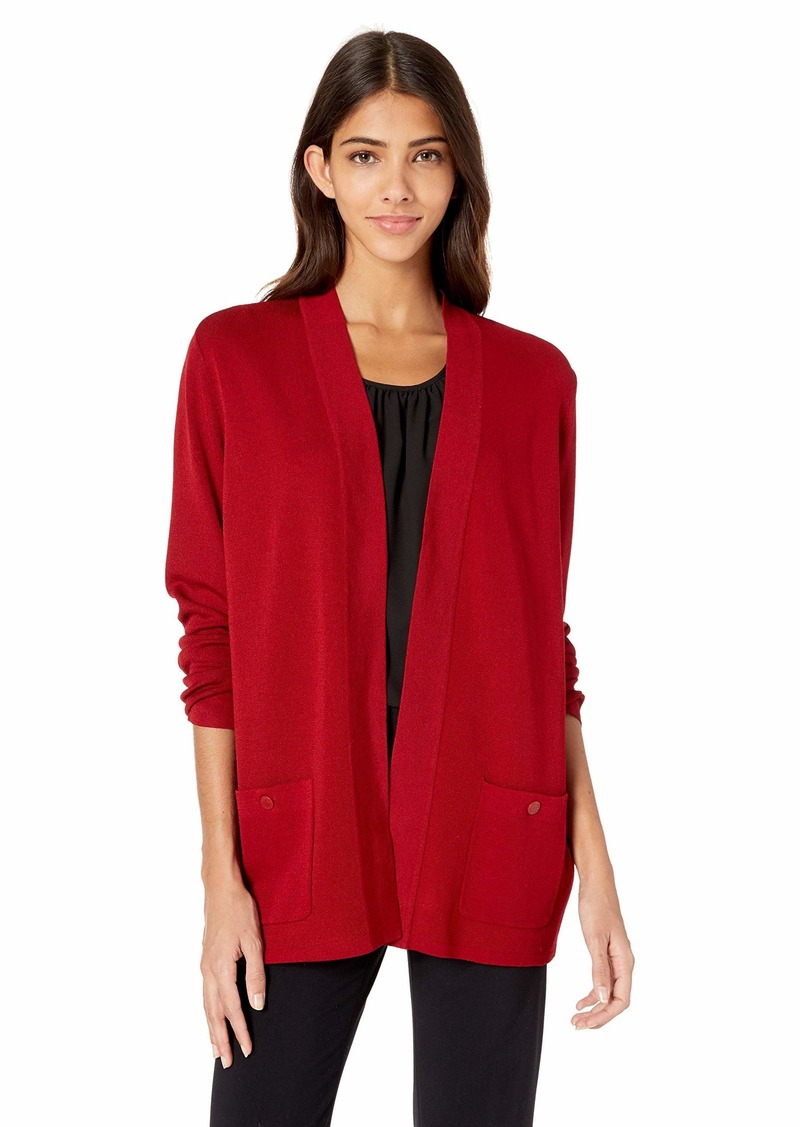 Anne Klein Women's Malibu Cardigan Titian red S