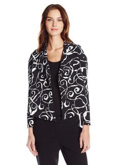Anne Klein Women's Mercury Print Flyaway Jacket