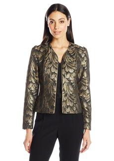 Anne Klein Women's Metallic Feather Jacket