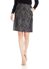 Anne Klein Women's Metallic Jacquard Hitch Skirt