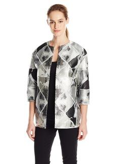 Anne Klein Women's Metallic Jacquard Jacket
