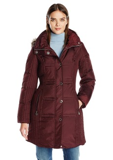Anne Klein Women's Mid Length Down Coat