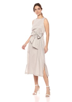 Anne Klein Women's MIDI Dress with SASH  S