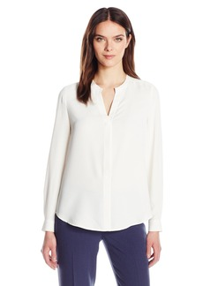 Anne Klein Women's Mixed Media Blouse