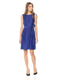 Anne Klein Women's Novelty FIT and Flare with SASH