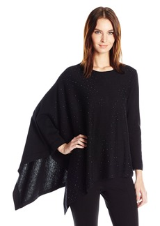 Anne Klein Women's One Shoulder Sequined Sweater  L