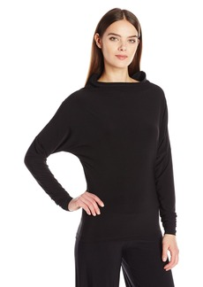 Anne Klein Women's Long Sleeve Wide Mock Neck  L
