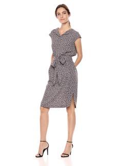 Anne Klein Women's Open Collar Shirt Dress  L
