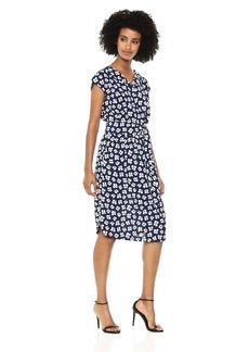 Anne Klein Women's Open Collar Shirt Dress  XL