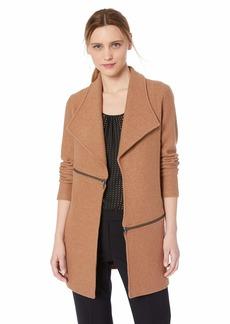 Anne Klein Women's Open Front Boiled Wool Jacket  M