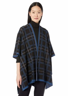 Anne Klein Women's Open Front Cape  L/XL