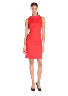 Anne Klein Women's Pique Roll-Neck Sheath Dress