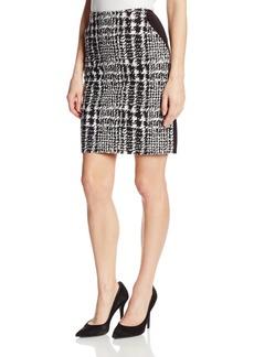 Anne Klein Women's Plaid Ponte A-Line Skirt