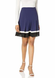 Anne Klein Women's Pleated Colorblock Skirt