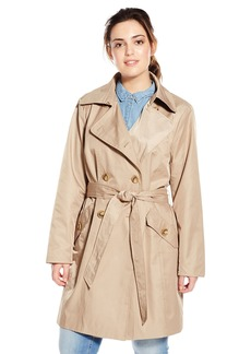 Anne Klein Women's Plus-Size Classic Double-breasted Trench Coat Plus