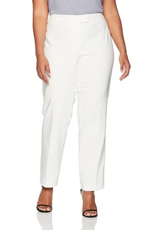 Anne Klein Women's Plus Size Cotton Double Weave Slim Pant