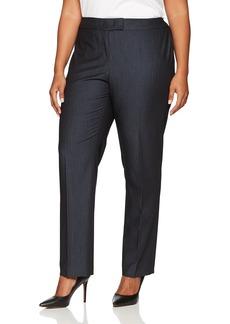 Anne Klein Women's Plus Size Denim Twill Pant