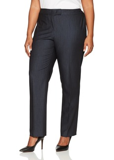 Anne Klein Women's Plus Size Denim Twill Pant Indigo
