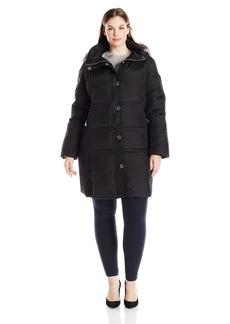 Anne Klein Women's Plus Size Mid Length Down Coat