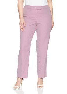 Anne Klein Women's Plus Size Seersucker Slim Pant