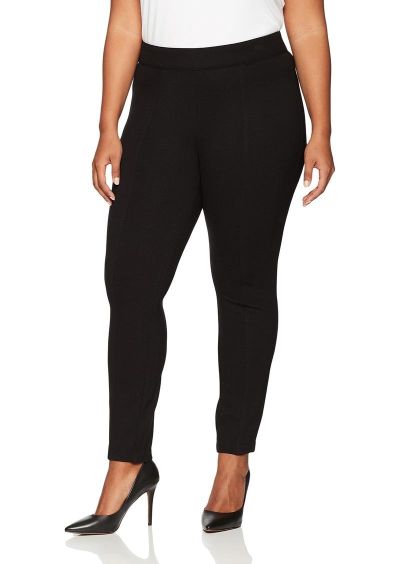 Anne Klein Women's Plus Size Slim Leg Compression Pant
