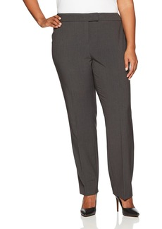Anne Klein Women's Plus Size Solid Slim Leg Pant