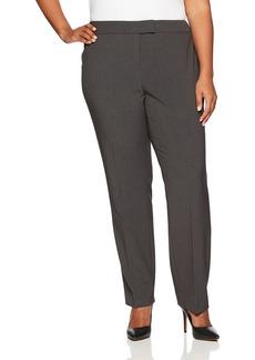 Anne Klein Women's Plus Size Solid Slim Leg Pant