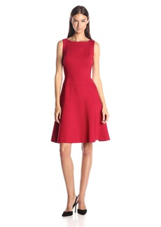 Anne Klein Women's Ponte Dropped Waist Fit and Flare