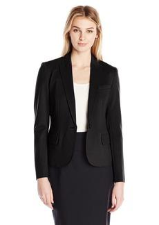 Anne Klein Women's Ponte One Button Jacket