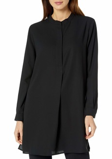 Anne Klein Women's POP-Over Blouse with Covered Placket and Side Slits