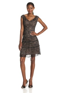 Anne Klein Women's Portrait Neckline Lace Swing Dress