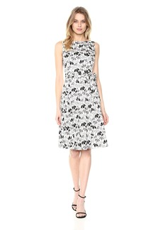 Anne Klein Women's Printed Cotton Fit and Flare Dress