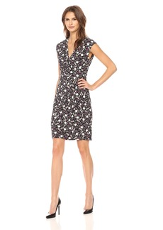 Anne Klein Women's Printed Faux Wrap Dress  S