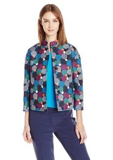 Anne Klein Women's Printed Flyaway Jacket