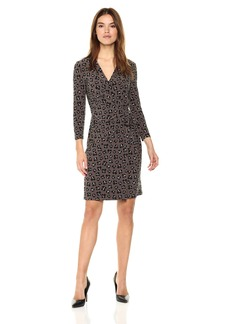 Anne Klein Women's Printed Ity Classic Wrap Dress